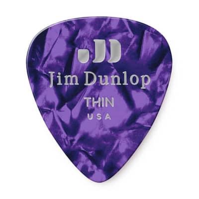 Dunlop 483R13TH Celluloid Standard Classics Thin Guitar Picks (72-Pack)