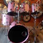 Used Tama Granstar 5pc Drum Set Cherry Rose image