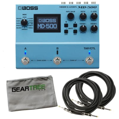 Boss MD-500 Digital Modulation Guitar Effect Pedal w/2 Cables and Cloth