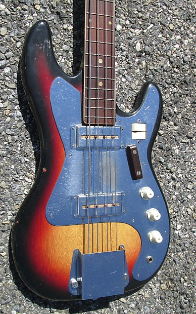 Bass Guitar Pickups Not Working : vintage 60s unlabeled teisco w gold foil pickups bass guitar reverb ~ Vivirlamusica.com Haus und Dekorationen