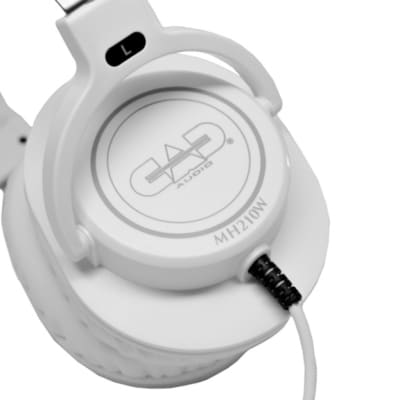 CAD Audio MH210W Closed-back Studio Headphones - 40mm Drivers - White