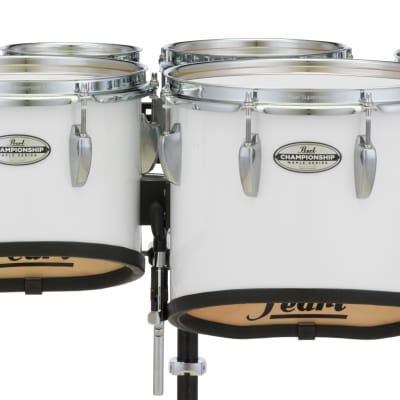 Pearl 6+8+10+12+13+14 Championship Maple Marching Tom Set - Pure White