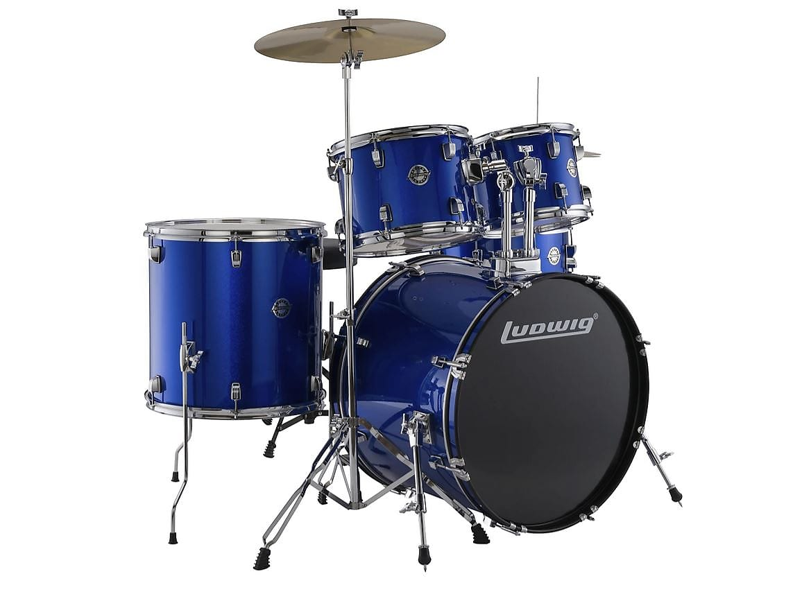 Ludwig LC170 5pc. Accent Fuse Complete Drum Kit - Blue 2019