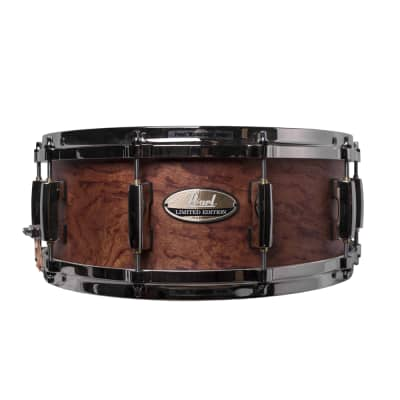 """Pearl MCXBG1455S/N Limited Edition 14x5.5"""" Bubinga/Maple Snare Drum"""