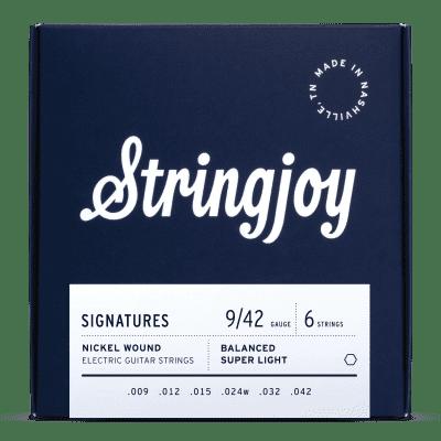 Stringjoy Balanced Super Light Gauge (9-42) Nickel Wound Electric Guitar Strings