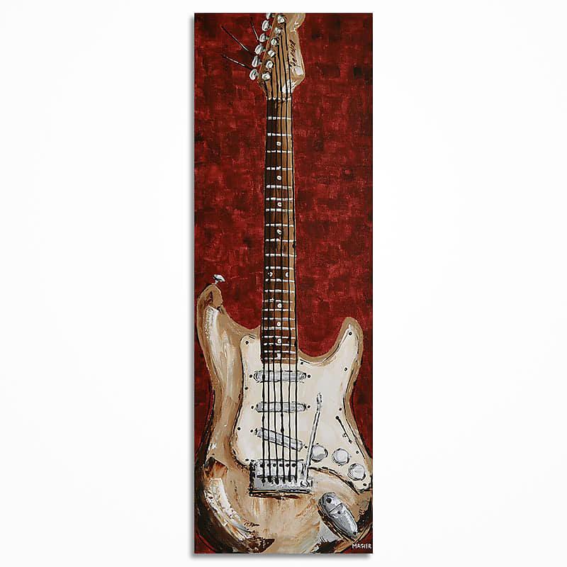 Music Room Decor Art Guitar Wall Original Painting On Canvas