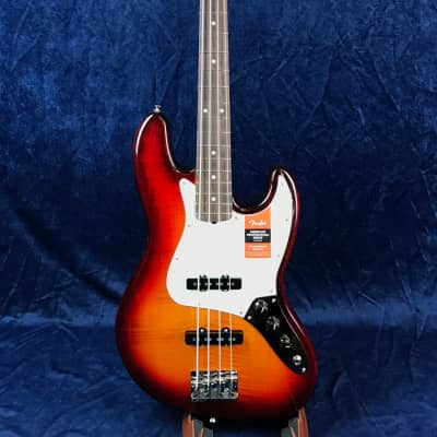 Fender American Professional Jazz Bass Exotic Wood FMT Aged Cherry for sale