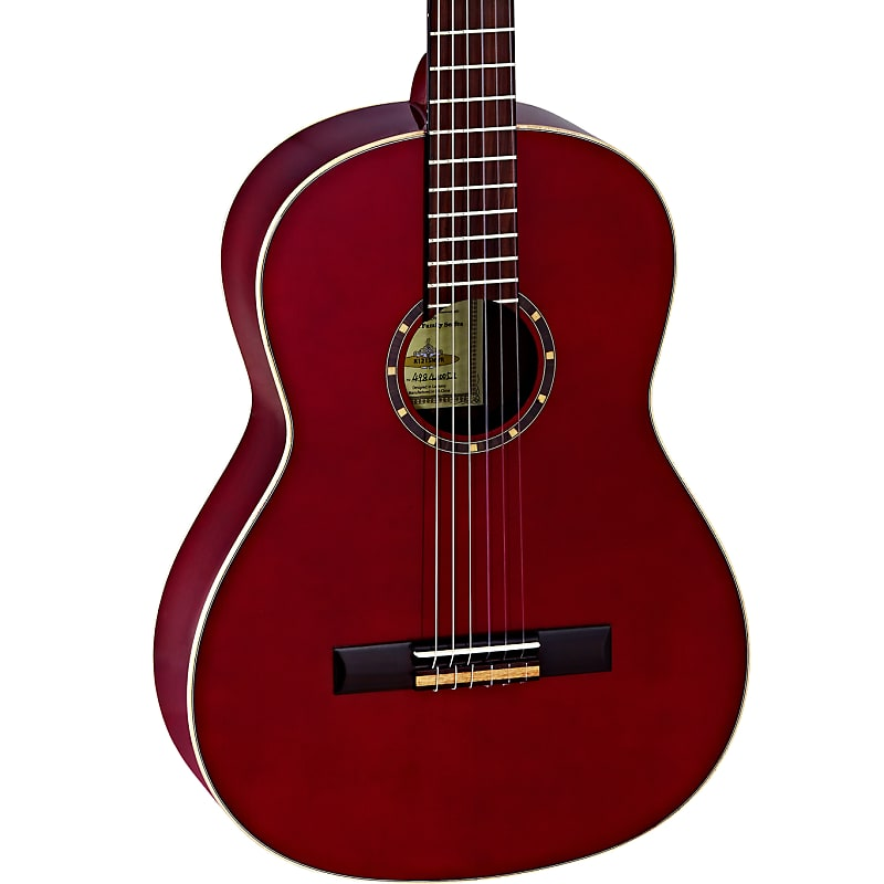 Ortega Family Series Spruce Top Nylon String Acoustic Guitar Wine Red R121SNWR