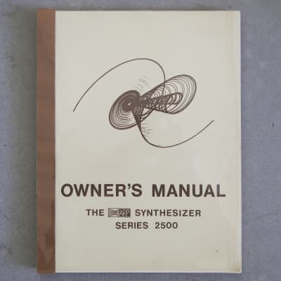ARP 2500 Owner's Manual with Appendix 1971