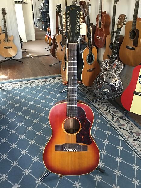 gibson b25 12 12 string acoustic guitar 1967 cherry sunburst reverb. Black Bedroom Furniture Sets. Home Design Ideas