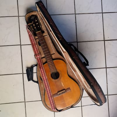 Vintage Conqueror Classical  Guitar (1970) w/ Strap & Hard Shell Case for sale