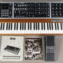Moog Memorymoog Plus with MIDI + 1120 cv pedal + owner's and technical manual + brochure (serviced)