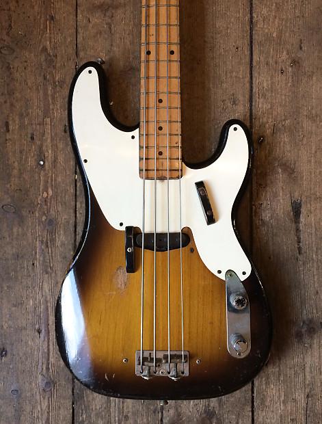 fender precision bass 1957 sunburst reverb. Black Bedroom Furniture Sets. Home Design Ideas