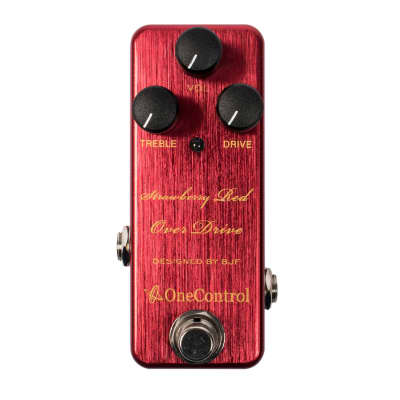 One Control Strawberry Red Over Drive Pedal for sale