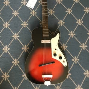 Holiday Electric Guitar 1960's Redburst for sale