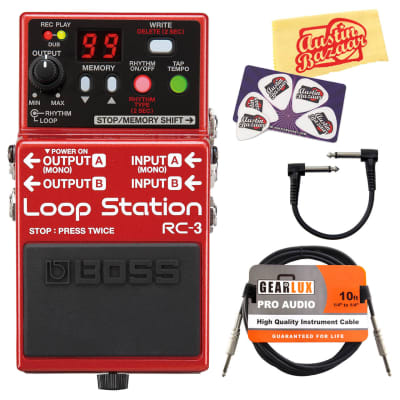 Boss RC-3 Loop Station w/ Cables