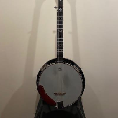 Samick 5 String Banjo 2000s Reddish Brown for sale