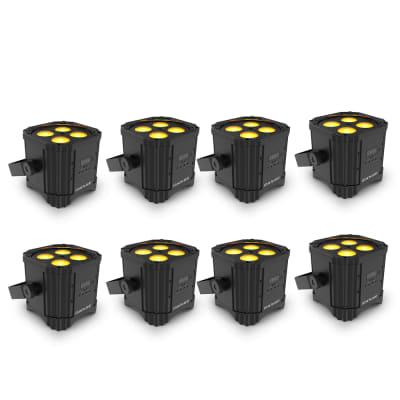 8 Chauvet DJ EZLINK PAR Q4 BT RGBA Wireless LED PAR Light w/Bluetooth