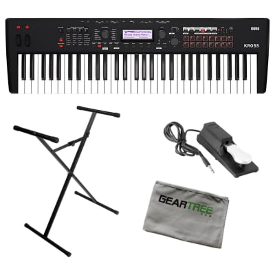 Korg KROSS 2 61-Key Matte Black Synthesizer Bundle