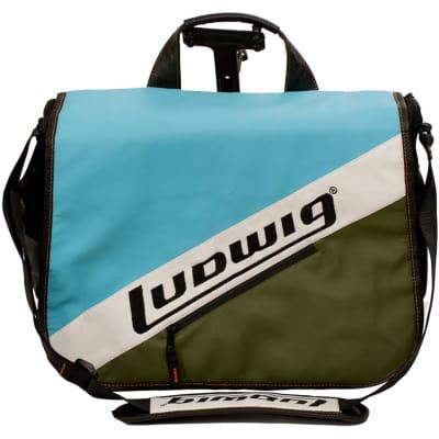 Ludwig LXL1BO Atlas Classic Heirloom Laptop Bag, Blue/Olive