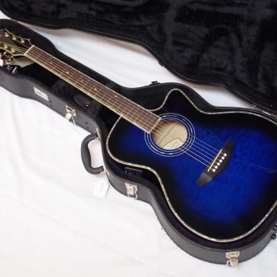 MICHAEL KELLY Series 15 Arena Cutaway Acoustic/Electric GUITAR w/ CASE - Blue for sale