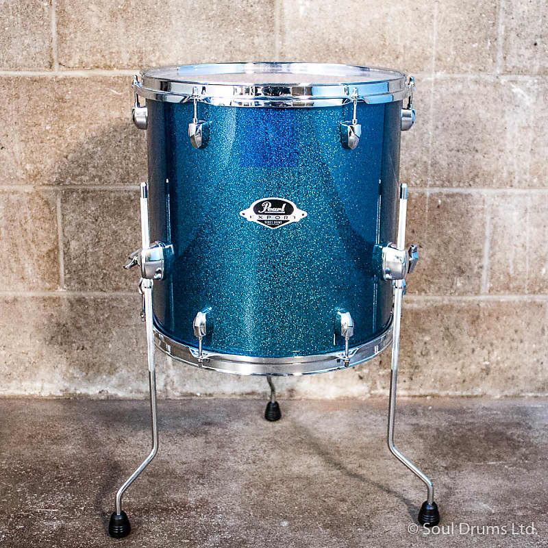 Pearl Export 14 X 14 Floor Tom Blue Sparkle Reverb
