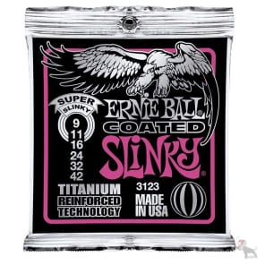 Ernie Ball 3123 Coated Titanium RPS Super Slinky Electric Guitar Strings (09-42)