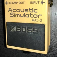 Boss AC-3 Acoustic Simulator with reverb guitar effects pedal