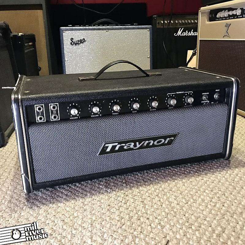 Traynor YSR-1 Custom Reverb Vintage 45W Tube Amplifier Head 1970s