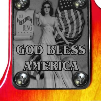 Neck Plate Neckplate Chrome Fender Strat Tele P J Bass Guitar Freedom Rings for sale