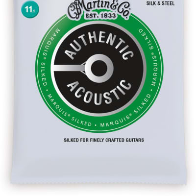 Martin MA130S Authentic Acoustic Marquis Silk & Steel Acoustic Strings, Custom (11.5-47)