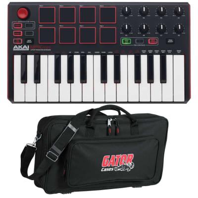 Akai MPK Mini mkII mk2 USB MIDI MPC Pad Compact Keyboard Controller w Gator Case