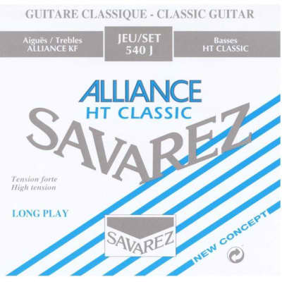 Savarez 540J Alliance High Tension Nylon Classical Guitar Strings, Tie-End