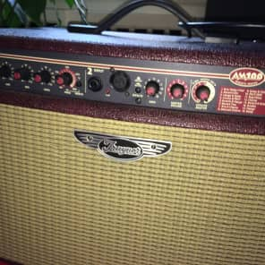 """Traynor AM100T Acoustic Master 100-Watt 2x6.5"""" Tilt-Back Acoustic Guitar Combo with Tweeter"""