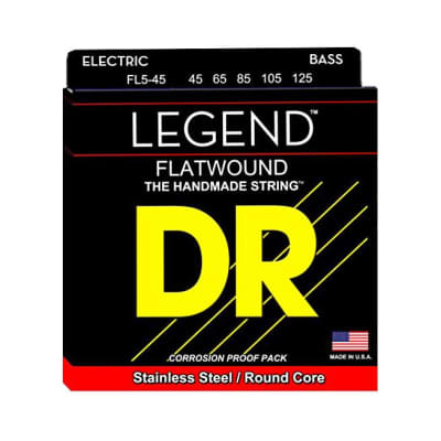 DR Strings Flatwound Legend 5-String Medium Bass Strings