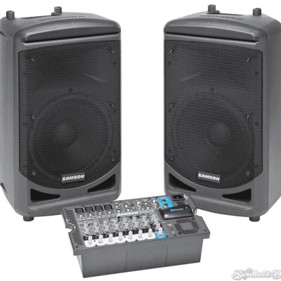 """Samson Expedition XP1000 1000 Watt 10"""" Portable PA System Compact with Bluetooth"""
