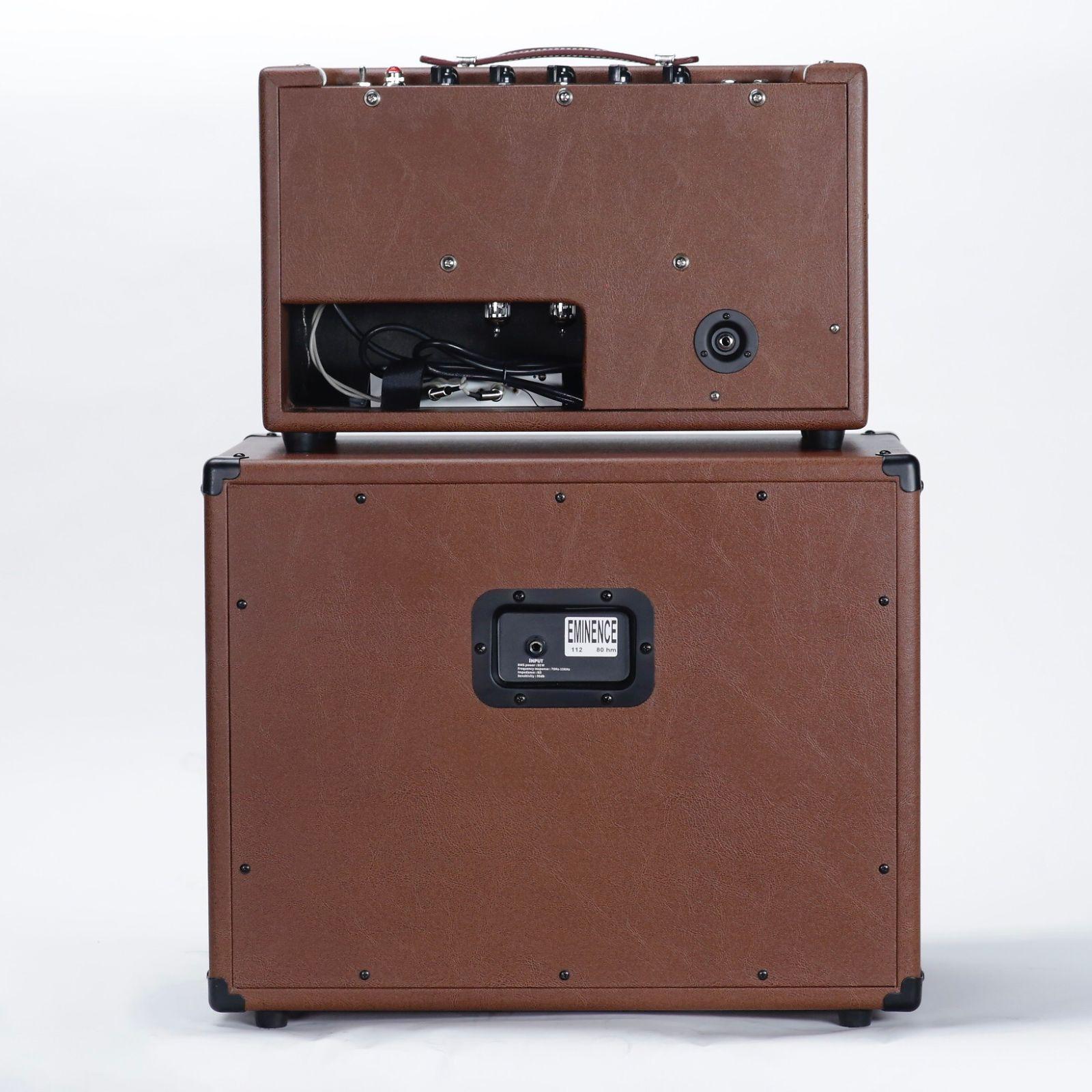 Bootlegger Guitar  Blues 15 & 12 Inch  Eminence Cabinet 2018 Brown