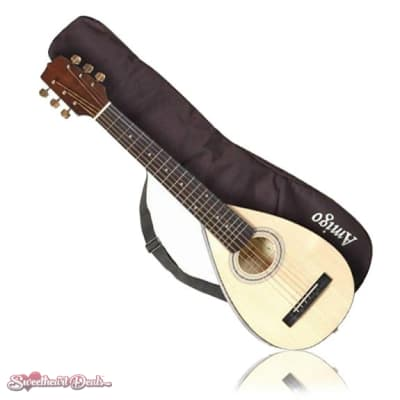Amigo AMT10 Spruce Top Acoustic Travel Guitar with Bag for sale
