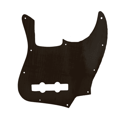 Maple Pickguard for Fender Jazz Bass in Black