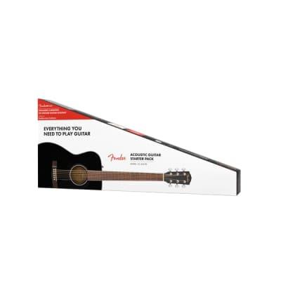 Fender CC-60S Concert Pack V2, Black Acoustic Guitar for sale