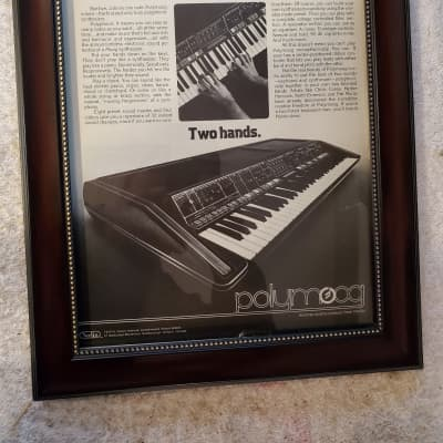 1977 Moog Synthesizers Promotional Ad Framed Polymoog Original