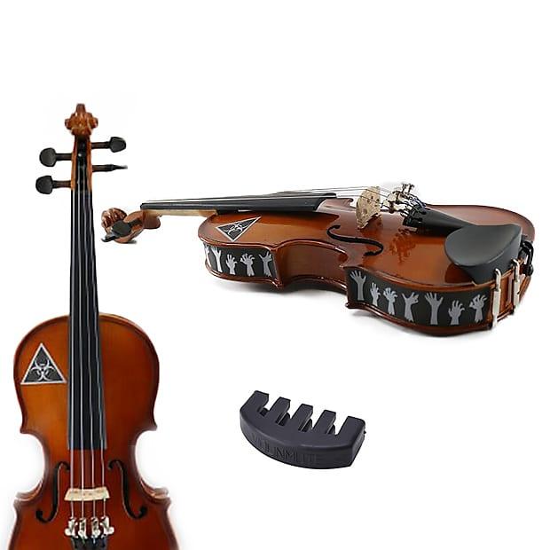 Violin Practice Mute W/Zombie Violin Skins 4/4 Size (Violin