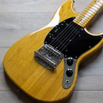 Fender Mustang MG77 2010-11 Natural Ash MIJ Japan