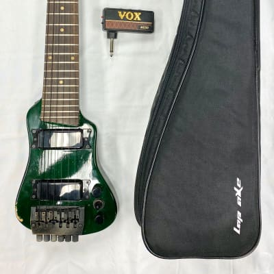 Lap Axe Travel Guitar w/Bag and Vox AC30 Amplug Green for sale