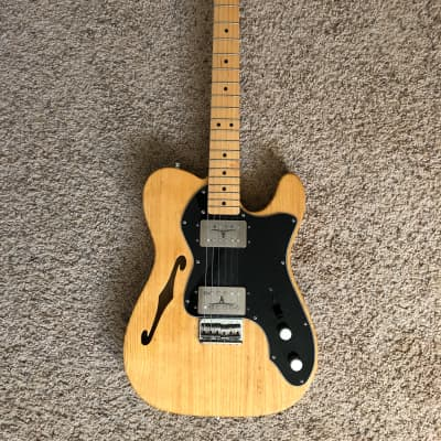Fender '72 Telecaster Thinline Reissue 2003 Natural w/ Rio Grande Big Bottom Set for sale