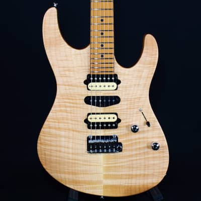 Suhr Limited Edition Modern Satin Flame Roasted Maple FB w/ Gig Bag Natural (JS6E5F)