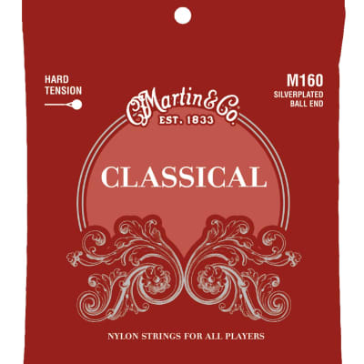 Martin M-160 Silverplated Ball End Nylon Strings
