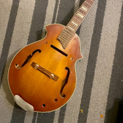 Kay F-Style/Venetian Mandolin Project For restoration 1950's Sunburst w/Bridge, Tailpiece & Tuners for sale