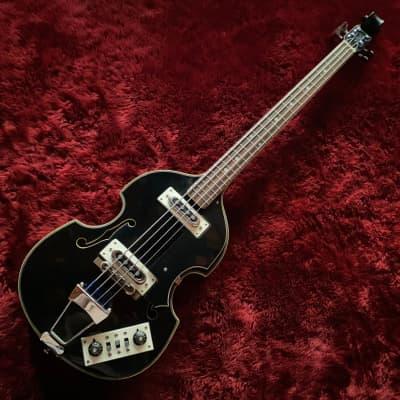 """c.1967- Firstman/Teisco Gen Gakki Baroque Special MIJ Vintage Bass  """"Black"""" for sale"""
