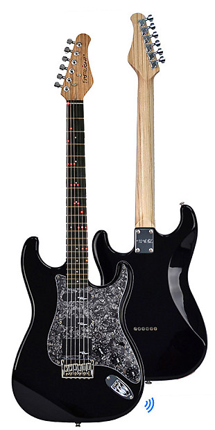 fg 621 shelby speed wireless electric guitar black black reverb. Black Bedroom Furniture Sets. Home Design Ideas